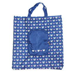 a0b3d1784 Wholesale Heart Printed Nylon Foldable Tote Bag with Zipper Pouch