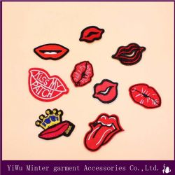 Lips and Lipstick Embroidered Sew Iron on Patch Badge Bags Hat Cap Jeans Applique Fabric Transfer