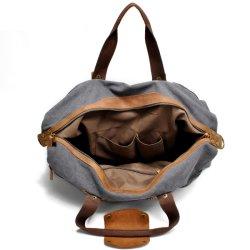 Fashion Design Canvas Leather Sport Handbag Gym Travel Bag (RS -9135)