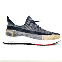 2020 New Design Sport Running Flat Shoes Breathable Casual Shoes for Men