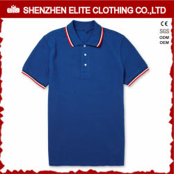 Breathable Mens Slim Fit White Polo Shirt with Red Collar (ELTMPJ-262)