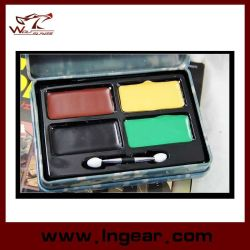 Tactical Military Camouflage Oil Painting Compact with 4 Colors