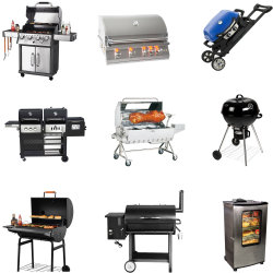 Outdoor Barbecue Gas Stove with Grill and Oven