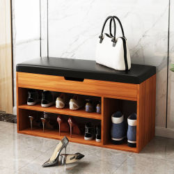 Simple Modern Double-Layer Dust-Proof Shoes Changing Stool