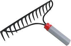 High Quality 22 Teeth Metal Garss Garden Rake Fork Hay Rakes Cleaning Tools Plastic Farm Rake PP Leaf Lawn
