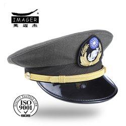 55e4fc32425ef Custom Distressed Black Military Captain General Cap
