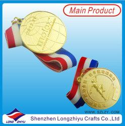 Sport Metal Trophy Gold 3D Logo Emboss
