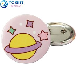 Cheap Price Custom Printing Colorful Flower Logo Button Lapel Pin Art Crafts Company Uniform Decoration Brooch School Sport Tinplate Tin Badge for Promotional