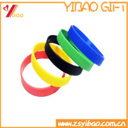 2018 New Style Colorful Silicon Wristband and Rubber Bracelet Customized Logo Jewelry (YB-HD-179)