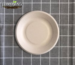 Sturdy, Gluten Free Wheatstraw Fiber Is Certified Compostable, Eco-Friendly, Microwavable and Safe for Hot and Cold Foods Biodegradable Disposable Plates