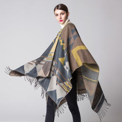 Fashion Custom Thick Warm Slit Pashmina Shawls Large Capes Scarves