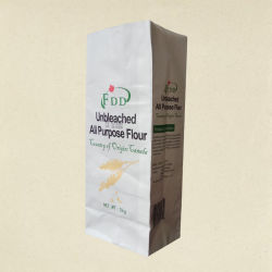 Food Grade Kraft Paper Bag For Rice Wheat Flour Corn