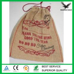 Custom Tea Jute Pouch Bag with Logo Printing