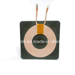 Qi Tx 10ts, 2 Layers Wireless Charger Coil with Double Side Type on The Ferrite