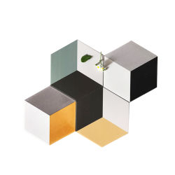 200X230X115mm Regular Shape Hexagonal Ceramic Porcelain Mixed Three Color Wall and Floor Decoration Tile for Living Room (SM2331)