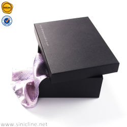Sinicline High Quality Luxury Wallet Box Packaging with Silver Foil Logo