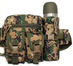 Men's Outdoor Water Bottle Pocket in Woodland Digital Camouflage Color / Mountaineering Single-Shoulder Bag