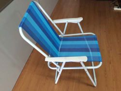Steel Spring Folding Chair for Camping (strips) (ETF06016)