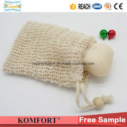 Cotton Fiber Exfoliating Soap Bag SPA Shower Bath Scrub Glove (KLB-128)