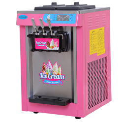 Colorful Table Soft Ice Cream Machine with 3 Taps
