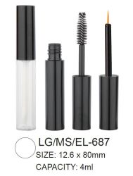 Round Plastic Lipgloss Mascara Container