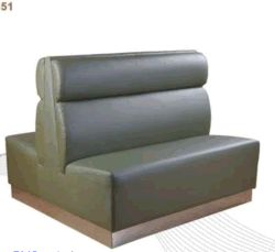 Double Sided Restaurant Booth Seat Sofa