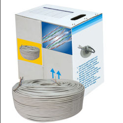 Professional Factory Indoor Cable Network Cable Cat5e LAN Cable with 0.5mm Bc Conductor