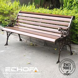 Camphor Wooden Slats for Bench with Cast Iron/Aluminum Legs