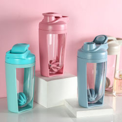 Double Walll Transpant Protein Shaker Bottle Sports Water Bottle Plastic Shaker Bottle