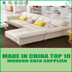 Middle Size Leather Corner Couch for Wholesale