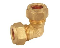 Brass Card Sleeve Fittings for Copper Tubes Elbow Bend Connector