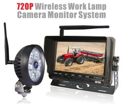 Wireless Camera Monitor System with HD Wireless Camera and Work Lamp
