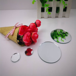 Small Round Square Customized Size Glass Mirror for Baby Handicraft Toys