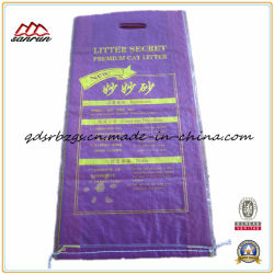 BOPP Film-Laminated Plastic Packaging PP Woven Cat Litter Bag / Sack