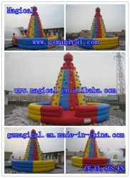 Commercial PVC Sport Games Kids Adult Inflatable Climbing Wall (MIC-087)