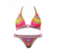 Sexy 2 Pieces Hot Open Bohemia Style Swimwear Bikini