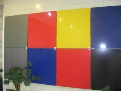 Glossy Blue Aluminum Composite panel Use for Wall Finishes