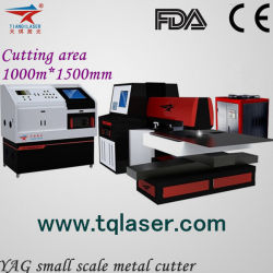 YAG Small Scale Laser Cutting Machine for 6mm Metal Cutting