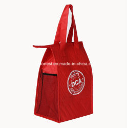 Non-Woven Cheap Custom Nonwoven Cooler Bag with Pocket