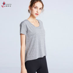 Twinkle Star Fitness Women's Long Sleeve T-Shirt Tie Knot Back Sports Comfort Athletic Workout Sweatshirts Gym Apparel Manufacture
