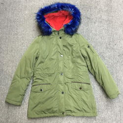 New Design Fashion Women Jacket with Red Fur Lining Sy-1820