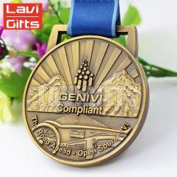 Customized Design 3D Antique Big Size Inner Hole Casting Sport Metal Award Medal for Souvenir Use Promotion
