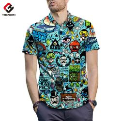 52bd8d7ea Sleeve Style: Short Sleeve. Wholesale Custom 100% Polyester Hawaiian Shirt  for Men