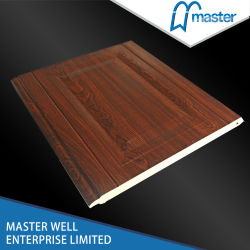 Finger Protection Type Polyurethane Foamed Garage Door Panel with Good Insulation Against Heat and Sound