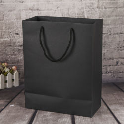 China Wholesale Customized Printed Luxury Fashion Promotional Paper Shopping Bag with Handles