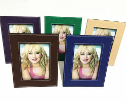 Colorful Graining PU Leather Photo Frames