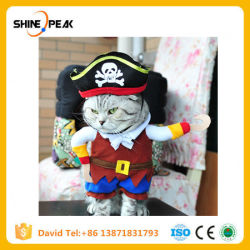 Dogs Cats Pirate Costumes Suit Dressing up Puppy Clothes Hat Tshirt Collar Outfit Role Play Pets Clothing Accessories Products