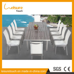 China textilene garden furniture textilene garden furniture anti decay anodized aluminum with textilene extendable home hotel dining table and chair set outdoor workwithnaturefo