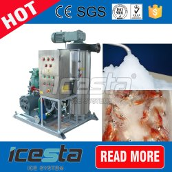Easy Transport Water Cooling Seafood Market Slurry Ice System