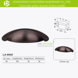 Oil Rubbed Bronze Cabinet Hardware Bin Cup Drawer Handle Pulls